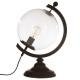 Lámpara h43 globe metal, transparente