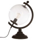 h43 globe metalen lamp, transparant