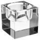 vierkante glazen kaars Display doorzichtig