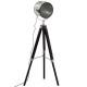 lampdr metal / bois ebor noir h152, noir
