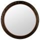 spiegel metalen patrijspoort d74, bruin