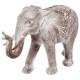 elephant blanchi resine h46, gris