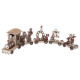 decoration wooden train 4 wagons christmas