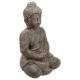 bouddha assis ciment h46, gris