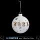 bola de navidad vidrio 80mm estrella de navidad