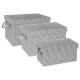 caja rectangular x3 gris claro, gris claro
