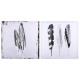 geprinte doek / sil pen 48x48, twee maal geassorte