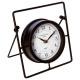 orologio a pendolo in metallo, nero