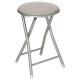 taupe basic folding stool