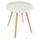 table cafe mileo nomade blanc, blanc
