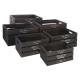 caja de embalaje facto negro x6, negro