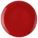 assiette plate rouge 26cm, rouge