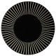 assiette plate sun noir 27cm