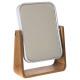 espejo de bambú blanco natureo, blanco