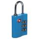padlock tsa 3 digits, 3- times assorted , multicol