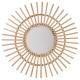 espejo de ratán de sol d58, incoloro