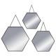 spiegel hexa metalen ketting x3 zwart, maal geasso