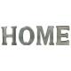 Palabra de metal en casa, gris medio
