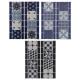 tiled sticker frieze 31x25, 3- times assorted , mu