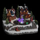 kerstdorp scene maak enf helder / water, mu