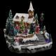 Navidad aldea iglesia artificial abeto baterías lm