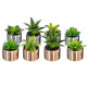 green plant pot ceramic h.13, 2- times assorted ,