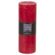 bougie ronde rustic rouge 6.7x19, rouge