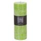 zöld rusztikus kerek gyertya 6.7x19, világoszöld