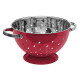sieve stainless steel 25cm red rc, red