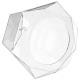 caja cápsulas hexago x60, transparente