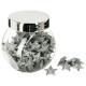accessoires jar deco glitter d 2cm ar, zilver