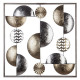 deco wall metal gold / silver 50x50, multicolor