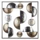 Deko Wand Metall Gold / Silber 50x50, mehrfarbig