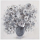 gray pei bouquet fabric 58x58, gray