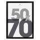 zwart kunststof fotolijst 50x70, zwart
