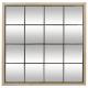 spiegelende natuurlijke noe 90x90x2cm, veelkleurig