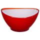 salad bowl red wave 13.5cm, red