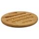 Bamboe platte bodem 18cm