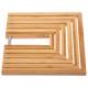dessous plat bambou extensible