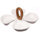 Aperitif dish with bamboo handle