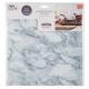 sticker caro marbre blanc x2, blanc