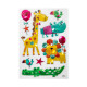 kids animal embossed relief, 2- times assorted , m