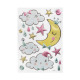 kids sticker unicorn and moon, 2- times assorted ,