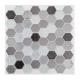 caro pti hexa zwart x2 sticker, zwart