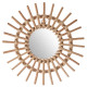 sun rattan mirror d30, medium beige