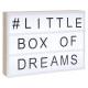 light box wood a4, black & white