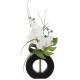 compo orch vase ceramique noir h44, 2-fois assorti