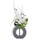 compo orch vase ceramique gris h44, 2-fois assorti