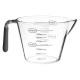 vaso medidor de plástico + tpr 400 ml, gris