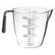 vaso medidor de plástico + tpr 900 ml, gris